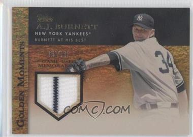 2012 Topps Golden Moments Game-Used Memorabilia Gold #GMR-AB - A.J. Burnett /99