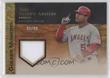 2012 Topps Golden Moments Game-Used Memorabilia Gold #GMR-BA - Bobby Abreu /99
