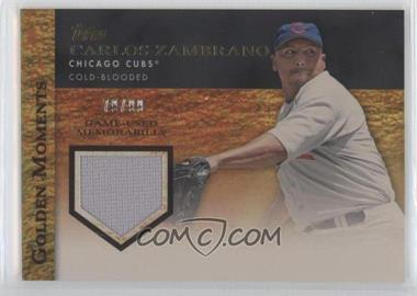 2012 Topps Golden Moments Game-Used Memorabilia Gold #GMR-CZ - Carlos Zambrano /99