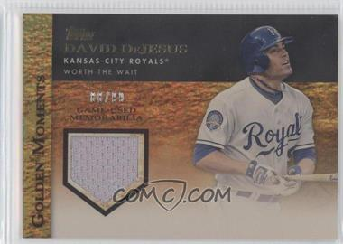 2012 Topps Golden Moments Game-Used Memorabilia Gold #GMR-DD - David DeJesus /99
