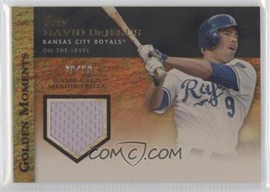 2012 Topps Golden Moments Game-Used Memorabilia Gold #GMR-DDE - David DeJesus /99