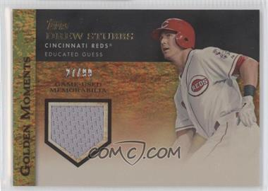2012 Topps Golden Moments Game-Used Memorabilia Gold #GMR-DS - Drew Stubbs /99
