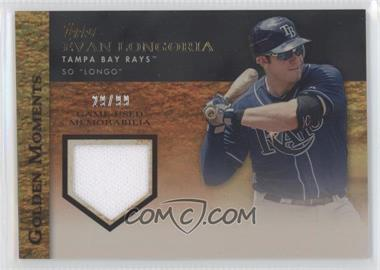 2012 Topps Golden Moments Game-Used Memorabilia Gold #GMR-EL - Evan Longoria /99