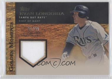 2012 Topps Golden Moments Game-Used Memorabilia Gold #GMR-ELO - Evan Longoria /99