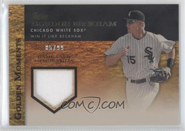 2012 Topps Golden Moments Game-Used Memorabilia Gold #GMR-GB - Gordon Beckham /99