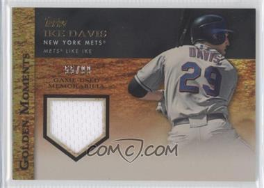 2012 Topps Golden Moments Game-Used Memorabilia Gold #GMR-IDA - Ike Davis /99