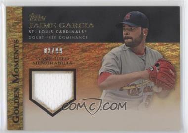2012 Topps Golden Moments Game-Used Memorabilia Gold #GMR-JG - Jaime Garcia /99