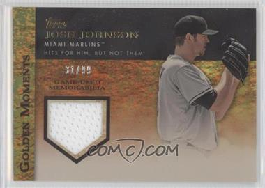 2012 Topps Golden Moments Game-Used Memorabilia Gold #GMR-JJ - Josh Johnson /99
