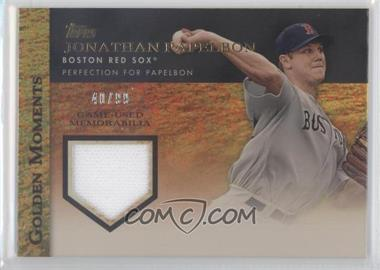 2012 Topps Golden Moments Game-Used Memorabilia Gold #GMR-JPA - Jonathan Papelbon /99