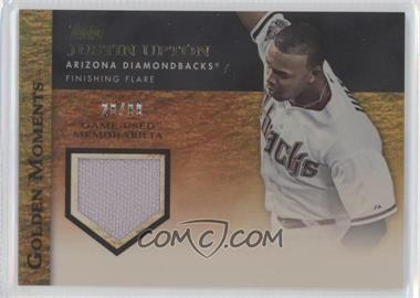 2012 Topps Golden Moments Game-Used Memorabilia Gold #GMR-JU - Justin Upton /99