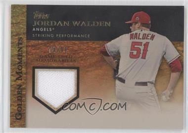 2012 Topps Golden Moments Game-Used Memorabilia Gold #GMR-JWA - Jordan Walden /99