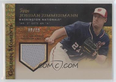 2012 Topps Golden Moments Game-Used Memorabilia Gold #GMR-JZ - Jordan Zimmermann /99