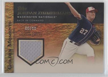 2012 Topps Golden Moments Game-Used Memorabilia Gold #GMR-JZ1 - Jordan Zimmermann /99