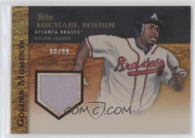 2012 Topps Golden Moments Game-Used Memorabilia Gold #GMR-MBO - Michael Bourn /99