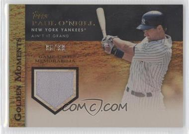 2012 Topps Golden Moments Game-Used Memorabilia Gold #GMR-PO - Paul O'Neill /99