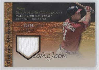 2012 Topps Golden Moments Game-Used Memorabilia Gold #GMR-RZ - Ryan Zimmerman /99