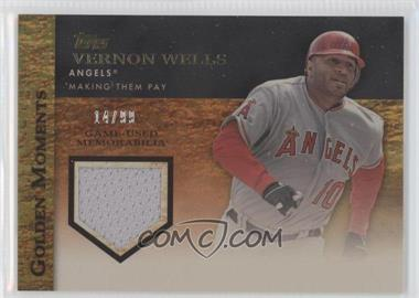 2012 Topps Golden Moments Game-Used Memorabilia Gold #GMR-VWE - Vernon Wells /99