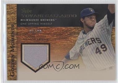 2012 Topps Golden Moments Game-Used Memorabilia Gold #GMR-YG - Yovani Gallardo /99