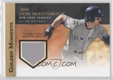 2012 Topps Golden Moments Game-Used Memorabilia #GMR-DM.2 - Don Mattingly (Grey Uniform)