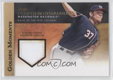 2012 Topps Golden Moments Game-Used Memorabilia #GMR-SS.2 - Stephen Strasburg