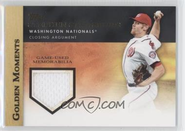 2012 Topps Golden Moments Game-Used Memorabilia #GMR-SST - Stephen Strasburg