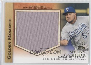 2012 Topps Golden Moments Jumbo Relics #GMJR-MC - Melky Cabrera /20
