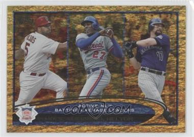 2012 Topps Golden Moments Parallel #124 - Albert Pujols, Vladimir Guerrero, Todd Helton