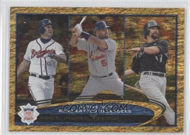 2012 Topps Golden Moments Parallel #159 - Albert Pujols, Todd Helton, Chipper Jones