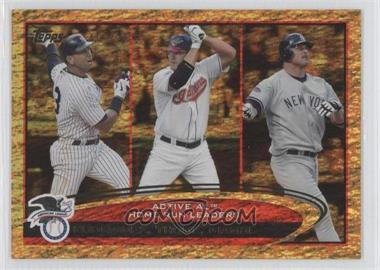 2012 Topps Golden Moments Parallel #91 - Jim Thome, Jason Giambi, Alex Rodriguez