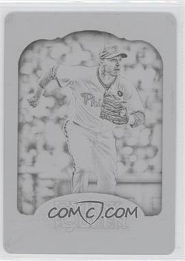 2012 Topps Gypsy Queen - [Base] - Printing Plate Black #10 - Roy Halladay /1