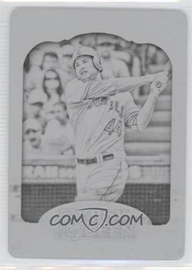 2012 Topps Gypsy Queen - [Base] - Printing Plate Black #34 - Mark Trumbo /1