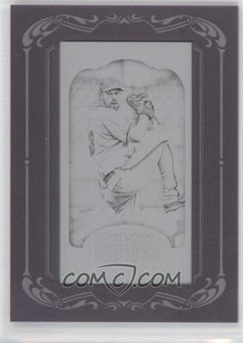 2012 Topps Gypsy Queen - [Base] - Printing Plate Minis Black Framed #170 - Cliff Lee /1