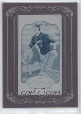 2012 Topps Gypsy Queen - [Base] - Printing Plate Minis Cyan Framed #166 - Corey Hart /1