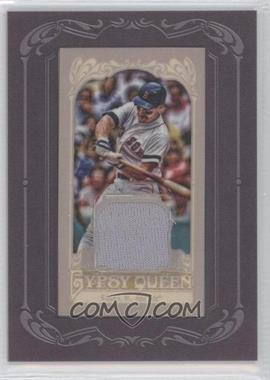 2012 Topps Gypsy Queen Framed Mini Relic White Back #GQMR-N/A - Wade Boggs