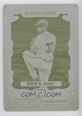2012 Topps Gypsy Queen Future Stars Printing Plate Yellow #FS-BB - Brandon Beachy /1