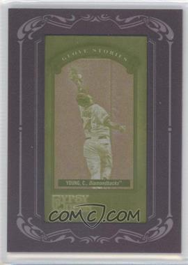 2012 Topps Gypsy Queen Glove Stories Printing Plate Mini Yellow Framed #GS-CY - Chris Young /1