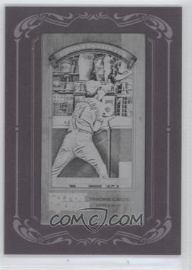 2012 Topps Gypsy Queen Glove Stories Printing Plate Minis Black Framed #GS-JF - Jeff Francoeur /1