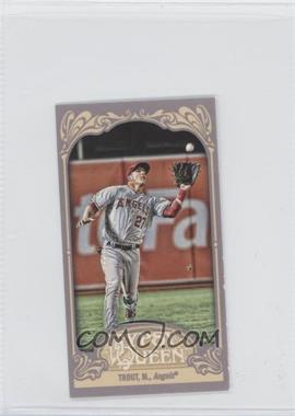 2012 Topps Gypsy Queen Mini Gypsy Queen Back #336 - Mike Trout