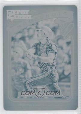 2012 Topps Gypsy Queen Moonshots Printing Plate Cyan #MS-MSC - Mike Schmidt /1