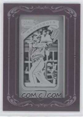 2012 Topps Gypsy Queen Moonshots Printing Plate Minis Black Framed #MS-NC - Nelson Cruz /1