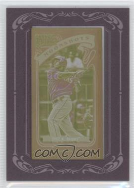 2012 Topps Gypsy Queen Moonshots Printing Plate Minis Yellow Framed #MS-NC - Nelson Cruz /1