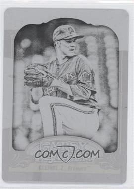 2012 Topps Gypsy Queen Printing Plate Black #58 - Zack Greinke /1