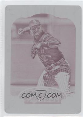 2012 Topps Gypsy Queen Printing Plate Magenta #69 - Troy Tulowitzki /1