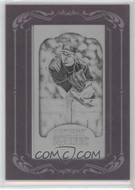 2012 Topps Gypsy Queen Printing Plate Minis Black Framed #13 - Anibal Sanchez /1