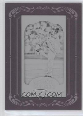 2012 Topps Gypsy Queen Printing Plate Minis Black Framed #288 - C.J. Wilson /1