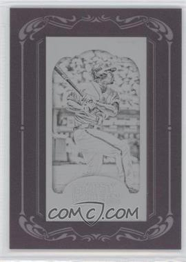 2012 Topps Gypsy Queen Printing Plate Minis Black Framed #323 - Michael Bourn /1