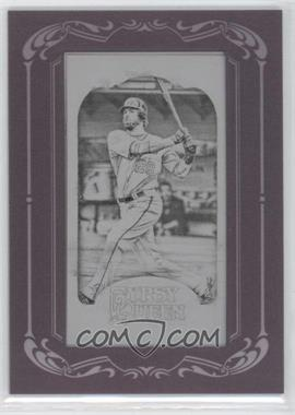 2012 Topps Gypsy Queen Printing Plate Minis Black Framed #87 - Jayson Werth /1