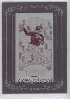 2012 Topps Gypsy Queen Printing Plate Minis Magenta Framed #74 - Bobby Abreu /1
