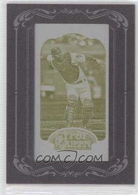 2012 Topps Gypsy Queen Printing Plate Minis Yellow Framed #115 - Kurt Suzuki /1