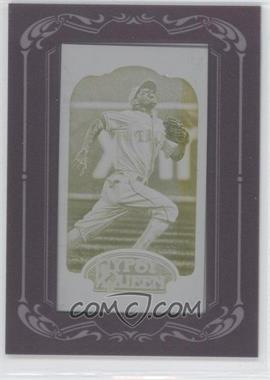 2012 Topps Gypsy Queen Printing Plate Minis Yellow Framed #145 - Ian Kinsler /1